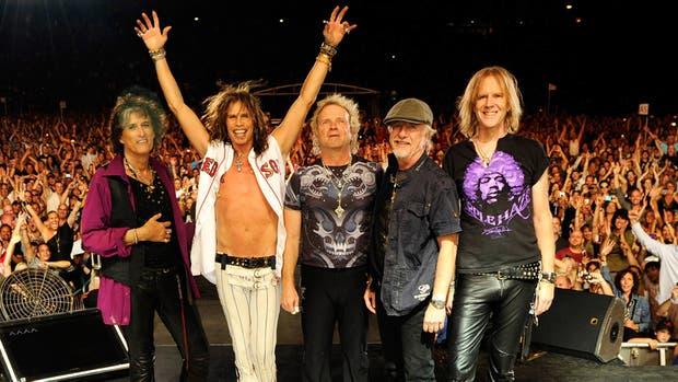 El quinteto, el año pasado en el Estadio Único de La Plata, en lo que se dio a conocer como la despedida de Aerosmith de su público argentino