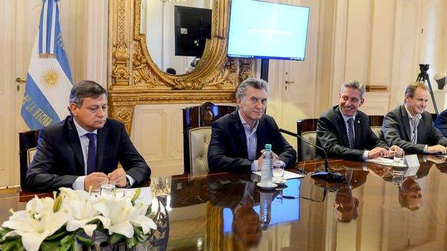 El presidente Mauricio Macri, en la reunión con los gobernadores