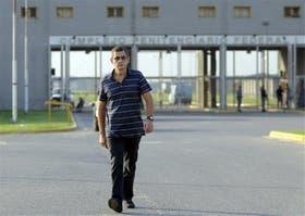 Sergio Schoklender, ayer, al salir de prisión