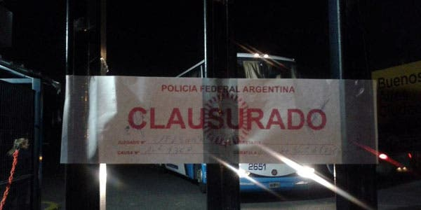 La faja de clausura del autódromo, el sábado por la noche