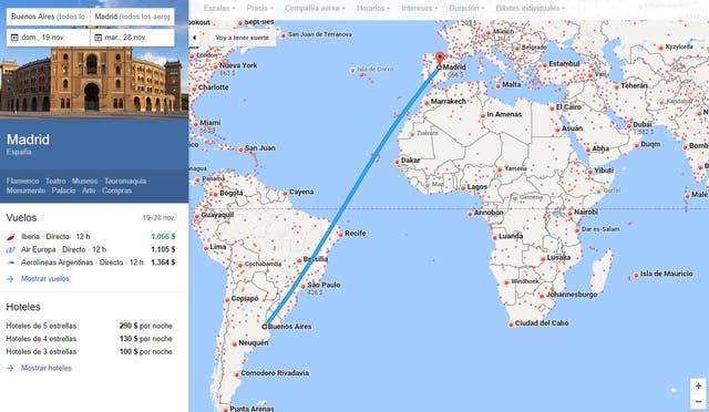 Explorar el mapa de Google Maps nos da una imagen visual de cómo será nuestros recorridos y qué puntos se pueden conocer