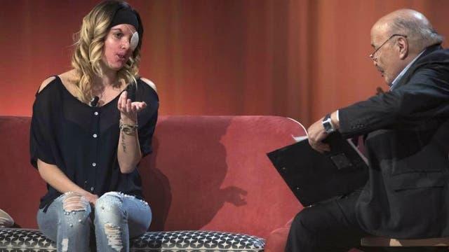 Gessica Notaro durante la entrevista
