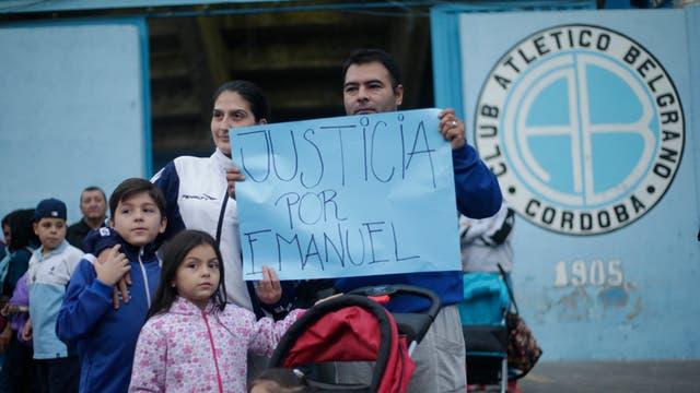 Los pedidos de justicia por la muerte de Emanuel Balbo frente al club Belgrano