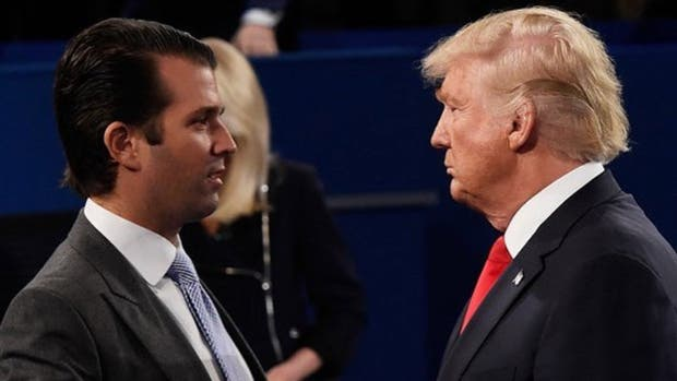 Los hijos, un dolor de cabeza para Trump: Donald Jr. admitió que tuvo contactos con WiliLeaks