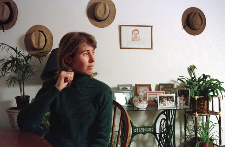María Cristina, la viuda de Cabezas, en una entrevista en mayo de 1998
