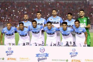 La alineación titular de Racing que ganó en el Libertadores de América y lucha desde lo más alto por el campeonato.