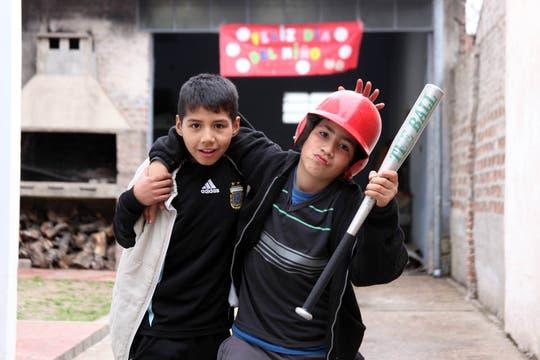 Los chicos del equipo de Las Aquilas. Foto: LA NACION / Sebastián Rodeiro
