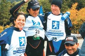 Tiempos más felices: Irízar, junto con Di Lorenzo y Paredes, en una competencia de aventura