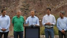 Macri estuvo en Purmamarca con los gobernadores de Jujuy, Gerardo Morales, y de Salta, Juan Urtubey; el titular del Plan Belgrano, José Cano, y el líder del Frente Renovador Sergio Massa.