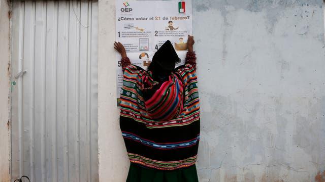 El pueblo boliviano decide sobre el futuro de Evo