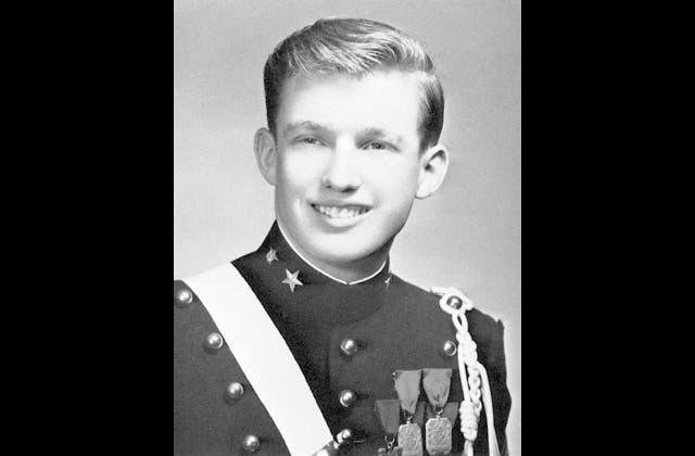Donald Trump en su paso por la Academia Militar de Nueva York