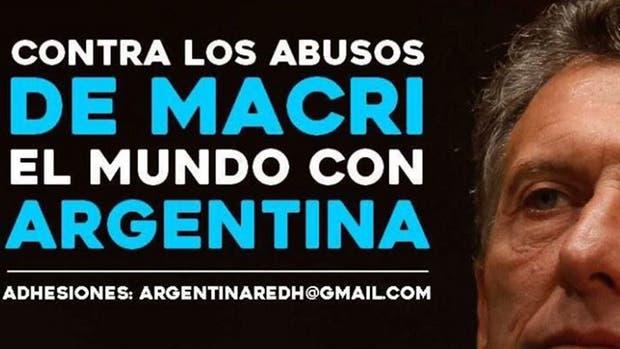 El flyer de la publicación de Cristina Kirchner