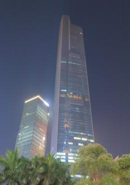 CTF Finance Center es uno de los edificios má altos del mundo, aunque queda lejos de rozar la altura del Burj Khalifa, en Dubái, el primero en la lista.