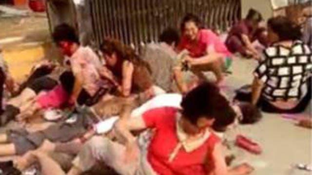China: explosión en la puerta de un jardín de infantes deja al menos sietes muertos