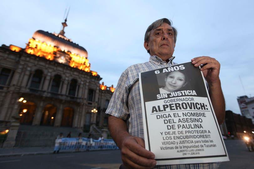 Alberto Lebbos, el padre de la víctima, sostuvo desde un primer momento que detrás del crimen de su hija se esconde alguien vinculado al poder político
