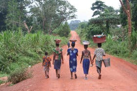 Liberianas en Nzerekore Camp, Guinea