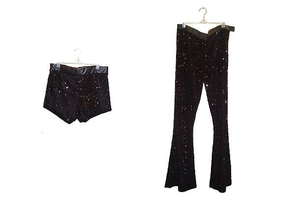 Pantalón y short de paillettes (desde $280 hasta $480). Foto: Foto retoque y producción: Ariela Bernater