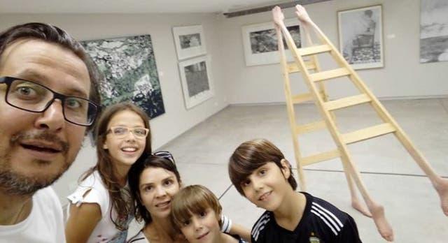 Una familia brasileña en el Sívori