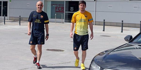 Messi junto con Juanjo Brau