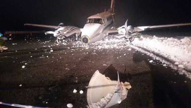 Se despistó un avión en el aeropuerto de Bariloche