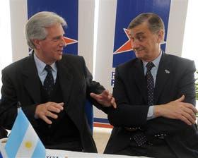 Binner recibió ayer al ex presidente de Uruguay Tabaré Vázquez
