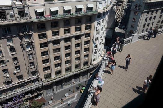 La terraza del Edificio Bencich con una vista única del centro. Foto: LA NACION / Soledad Aznarez