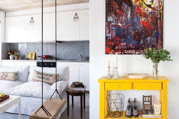La consola amarilla es un ejemplo de que el color, tarde o temprano, termina llegando, teoría que también prueba la pintura del artista plástico Álvaro Vaquero.  /Daniel Karp