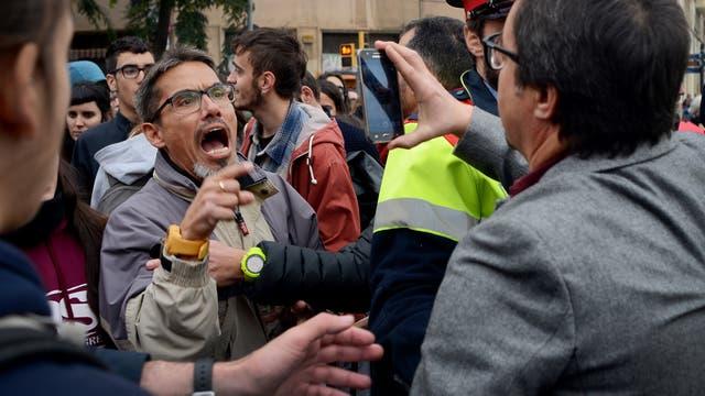 Independentistas catalanes llevaron a cabo una jornada de huelga y cortes de autopistas, carreteras, calles y vías de ferrocarril