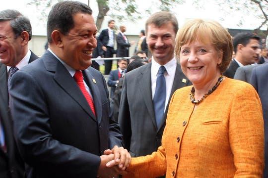 En Lima con Angela Merkel en el Museo de la Nación en mayo de 2008. Foto: Archivo