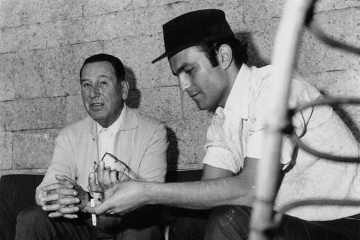 Leonardo Favio, junto a Juan Domingo Perón. Foto: Archivo