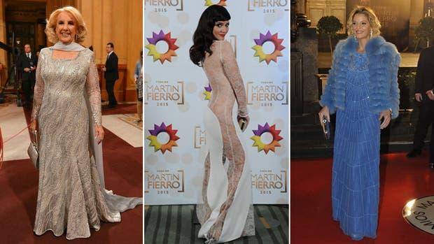 Mirtha Legrand, Griselda Siciliani y Carina Zampini, tres estrellas sobre la alfombra roja de los Martín Fierro 2016