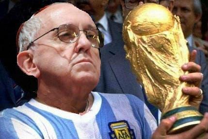 Bergoglio y la Copa del Mundo.