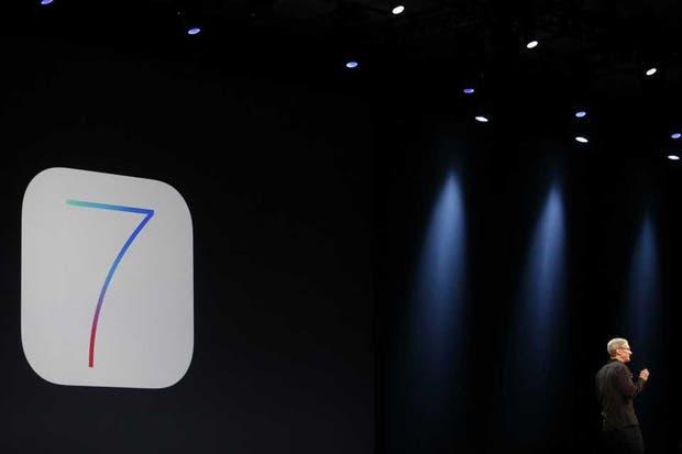 El icono de iOS7, la nueva versión del sistema operativo móvil presentado por Tim Cook en la conferencia de desarrolladores de Apple en San Francisco