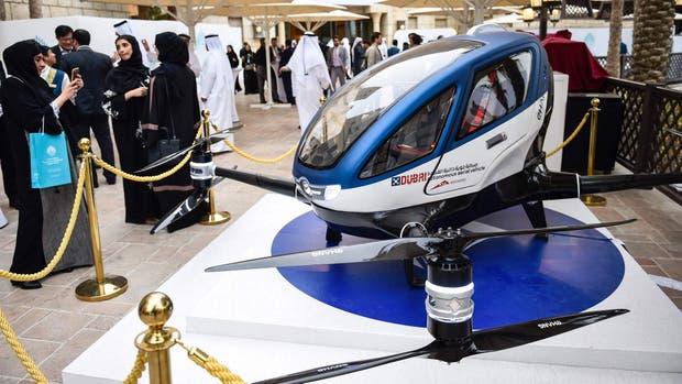 El EHang 184 fue un drone presentado en la feria CES 2016 y que ahora tendrá una oportunidad para operar como un servicio de taxi aéreo en Dubai