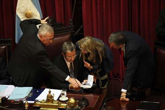 Cobos al frente del Senado. Foto: LA NACION / Maxie Amena