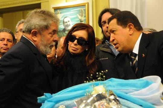 Lula y Chávez junto a Cristina Kirchner. Foto: Presidencia de La Nación