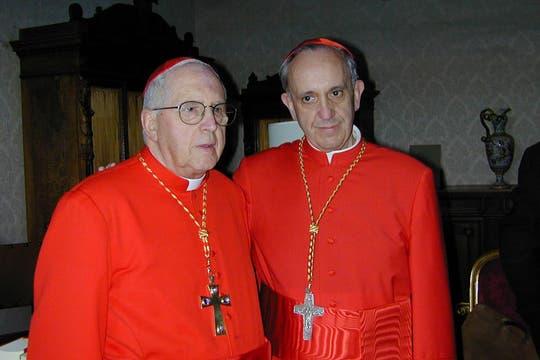 """En 2001, junto a Jorge Mejía se convirtió en uno de los primeros cardenales """"creados"""" en el nuevo milenio por el papa Juan Pablo II. Foto: Archivo"""
