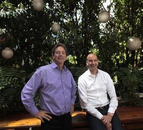 Nicholas Haan y Pascal Finette, de Singularity, en Buenos Aires