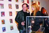 El pasado miércoles, Graciela Alfano fue a saludarlo a la galería Rubbers.
