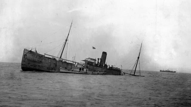El vapor Speranza se hunde en el Río de la Plata