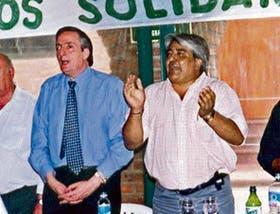 2002: con Kirchner, en Ciudadela, en un acto poco poblado