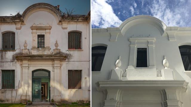 Antes y después: vista de la fachada del Palacio Cabrera