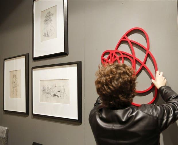 El stand de Del Infinito fue protagonista con una serie de Vasarely