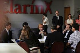 Martín Sabbatella, titular de la Afsca, en el Grupo Clarín