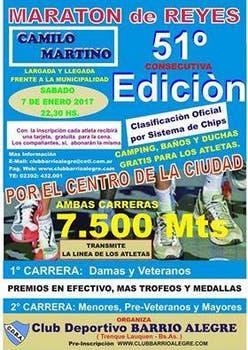 51° edición Maratón de Reyes Camilo Martino, en Trenque Lauquen.