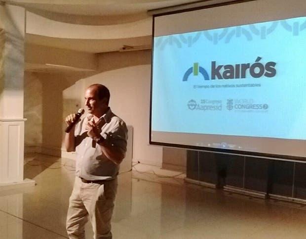 El presidente de Aapresid, Pedro Vigneau, en la presentación del próximo congreso