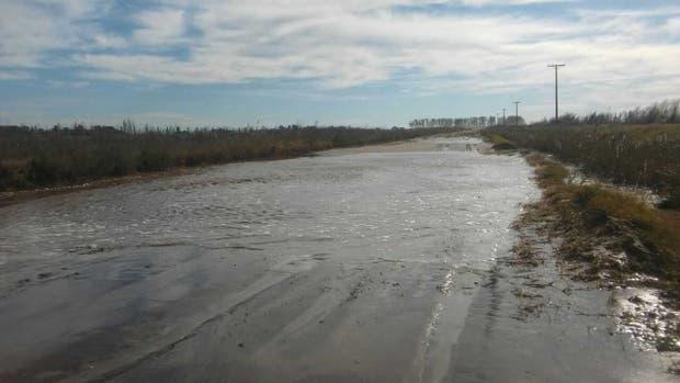 Uno de los caminos rurales de Daireaux, intransitable