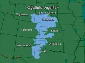 El acuífero de Ogallala cubre varios estados