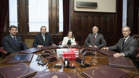 Los miembros de la Corte Suprema de Justicia