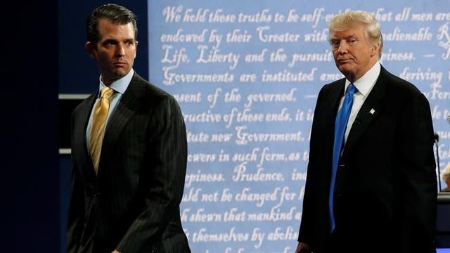 Trump Jr. se arrepintió de haber aceptado una reunión para incriminar a Hillary